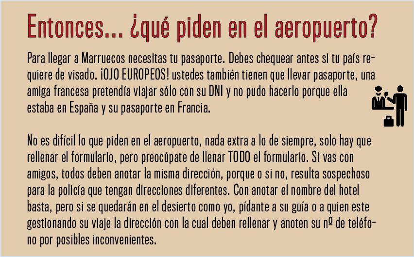 Marruecos aeropuerto